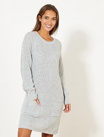 Mujer talla 34 to 48 - Vestido tipo jersey - Kiabi