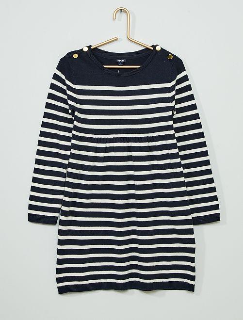 Vestido tipo jersey marinero                                         AZUL