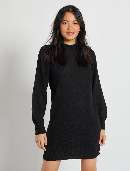 Vestido tipo jersey                                                                 negro