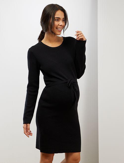 Vestido tipo jersey premamá                                                     negro