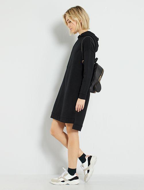 Vestido tipo sudadera eco-concepción                             negro