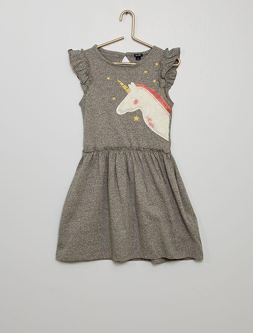 Vestido 'unicornio'                                                     GRIS