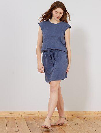 f6171fb25ad Mujer talla 34 a 48 - Vestido vaporoso con espalda estilo macramé - Kiabi