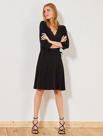 Mujer talla 34 to 48 - Vestido vaporoso de encaje - Kiabi