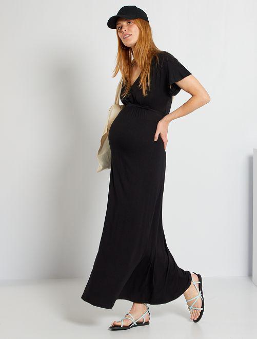 Vestido vaporoso de premamá                                                     negro