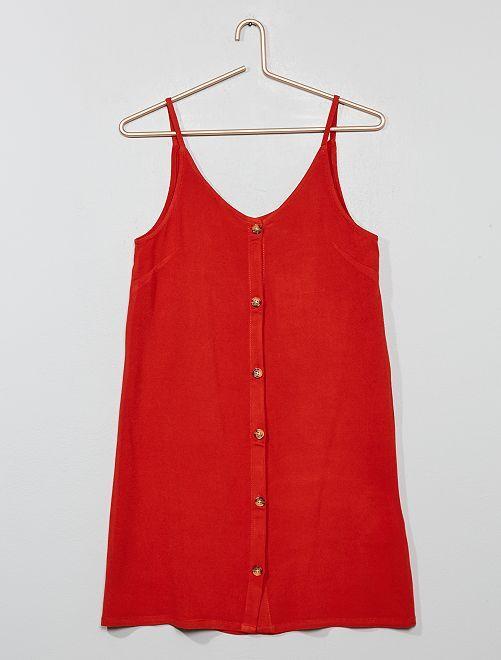 Vestido vaporoso                                                                 naranja ketchup Joven niña