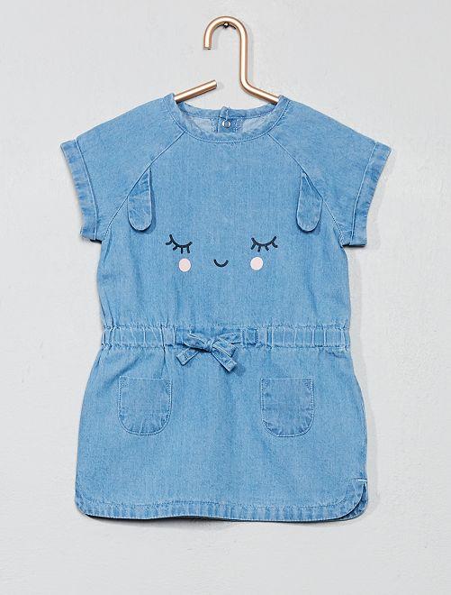 Vestido vaquero 'conejo'                                         AZUL Bebé niña