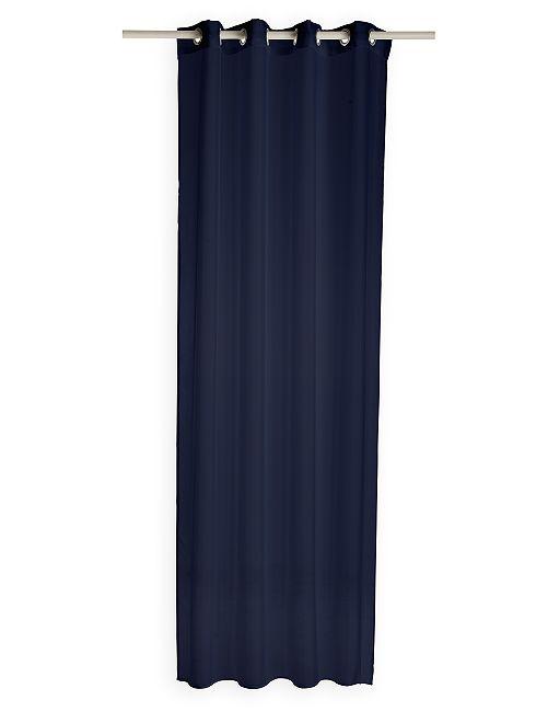 Visillo con ojales                                                     azul marino
