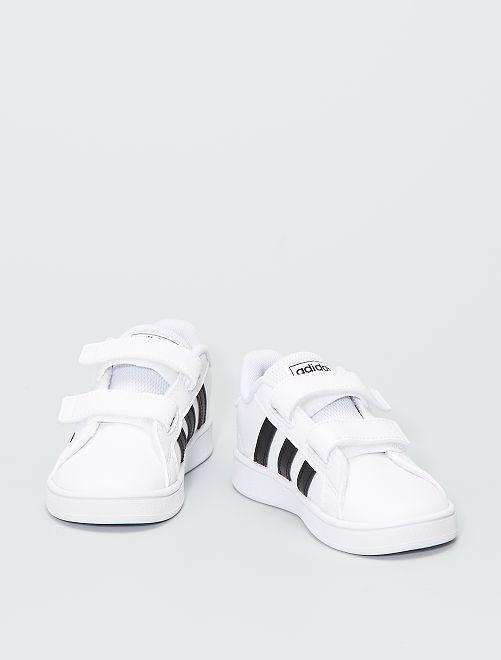 Zapatillas 'Adidas' con velcros                             BEIGE