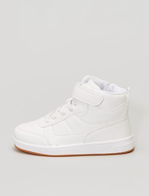 Zapatillas altas calzado fácil                             blanco