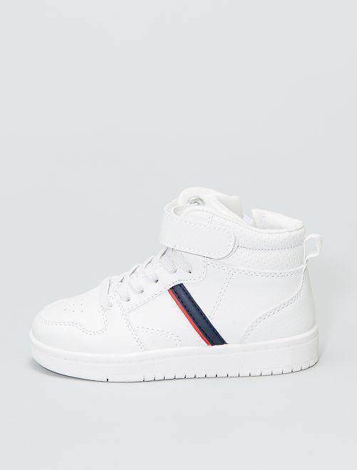 Zapatillas altas con velcro                             blanco