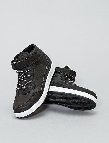 Zapatillas altas de malla y polipiel - Kiabi