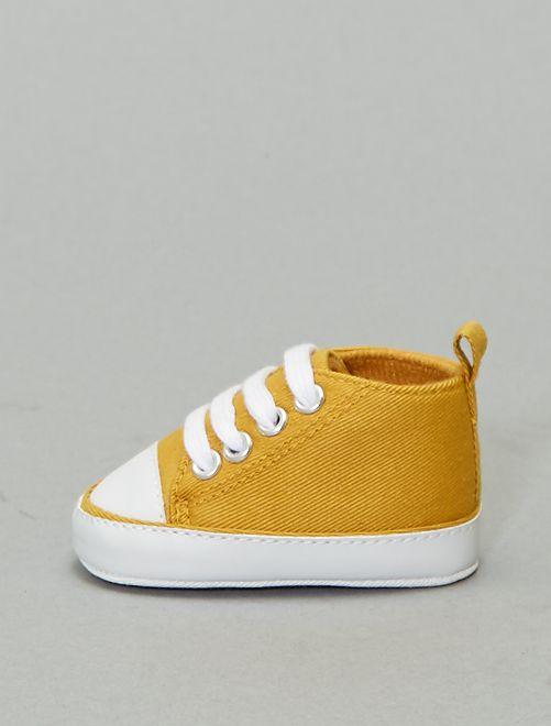 Zapatillas altas de tela                                                                                         amarillo bronce