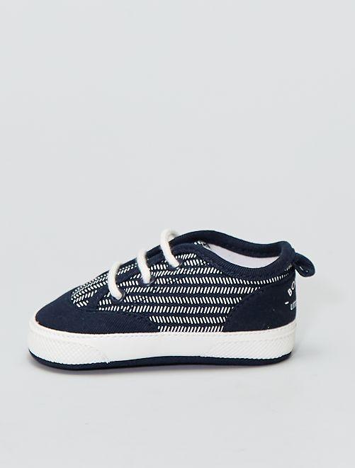 Zapatillas altas de tela                             AZUL