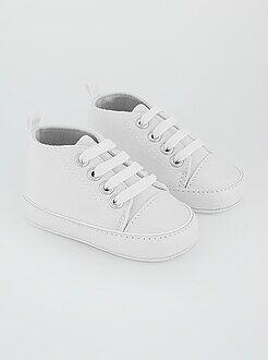Zapatillas altas de tela