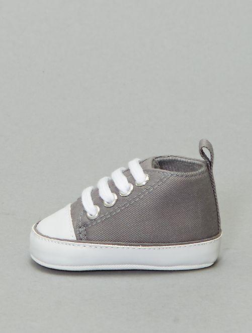 Zapatillas altas de tela                                                                                                                 GRIS