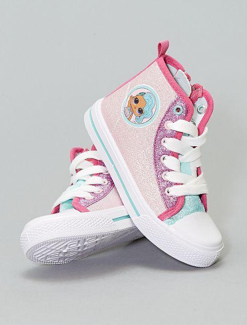 Zapatillas altas de tela 'LOL'                             rosa Zapatos