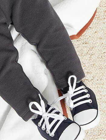 Zapatillas altas de tela - Kiabi