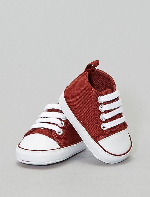Zapatillas altas de tela                                                                 MARRON