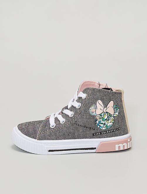 Zapatillas altas de tela 'Minnie' 'Disney'                             negro
