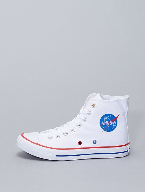 Zapatillas altas de tela 'NASA'                             blanco