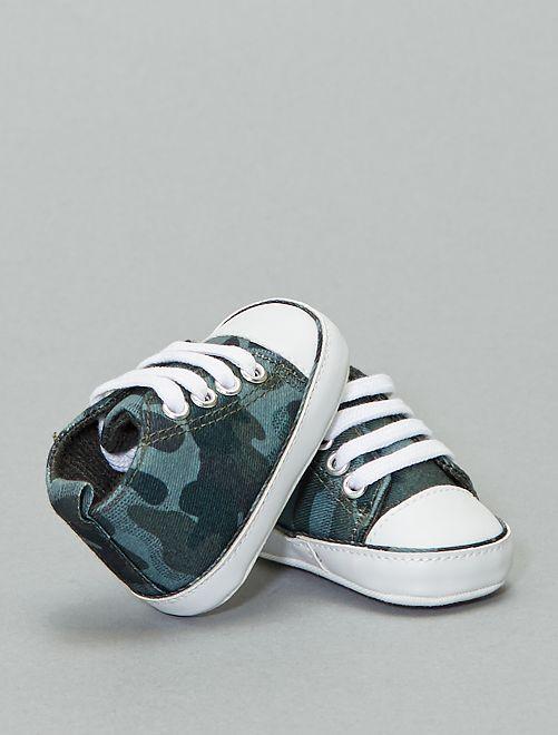 Zapatillas altas de tela                                                                                                     VERDE