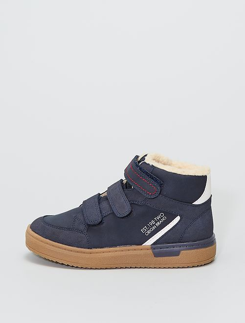 Zapatillas altas forradas                             azul navy