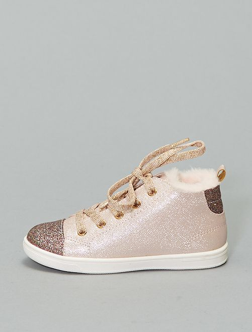 Zapatillas altas irisadas                             rosa