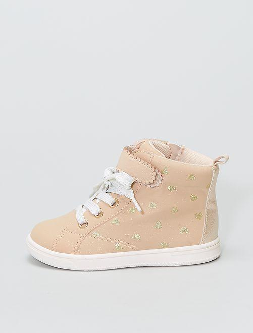 Zapatillas altas                             rosa