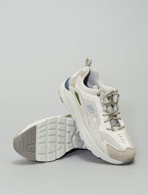 Zapatillas bajas con suela gruesa 'Skechers'                             gris
