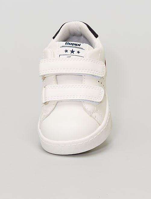 Zapatillas bajas con velcros                             BEIGE