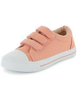 Zapatillas bajas de tela con velcro