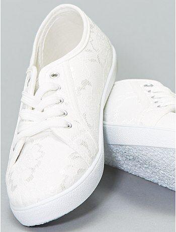 1e391b62 Zapatos - Zapatillas bajas de tela y encaje - Kiabi