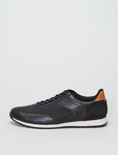 Zapatillas bajas sintéticas                             negro