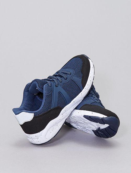 Zapatillas bicolor                             azul navy