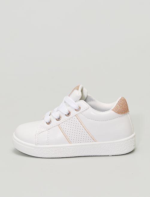 Zapatillas blancas brillantes                             BEIGE