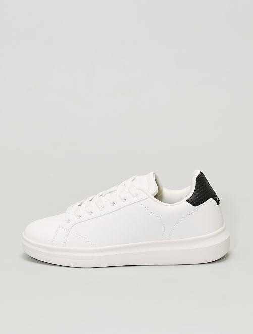 Zapatillas blancas de material sintético                             BLANCO