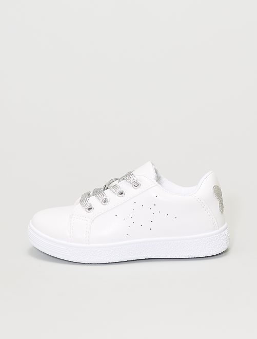 Zapatillas blancas 'mariposa'                             blanco