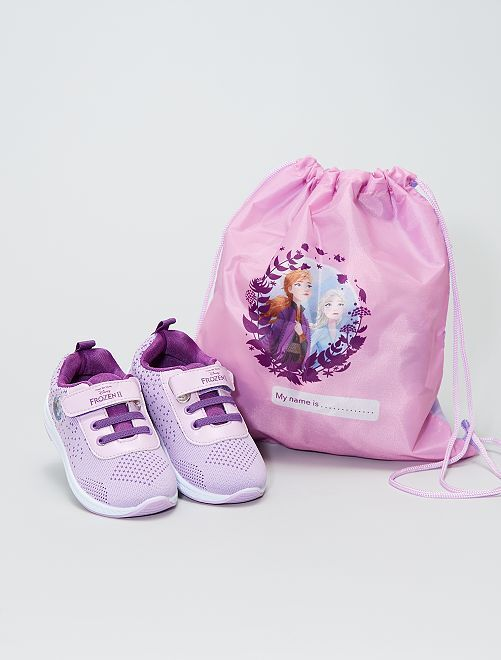 Zapatillas + bolsa 'Frozen'                             malva