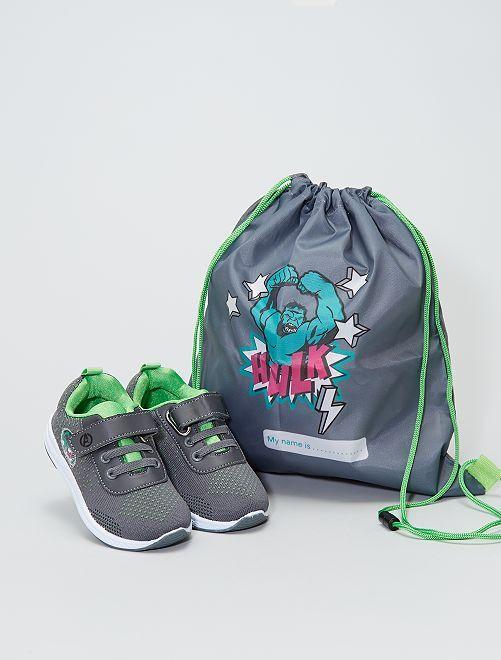 Zapatillas + bolsa 'Hulk'                             gris
