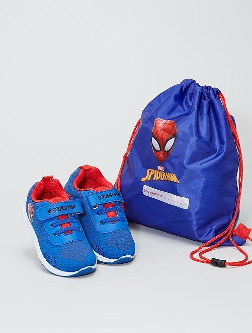 Zapatillas + bolsa 'Spider-Man'                             azul