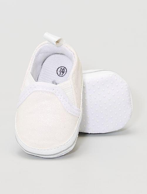 Zapatillas brillantes                                         blanco