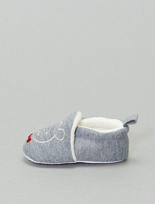 Zapatillas con bordado de 'oso'                                                                 antractita