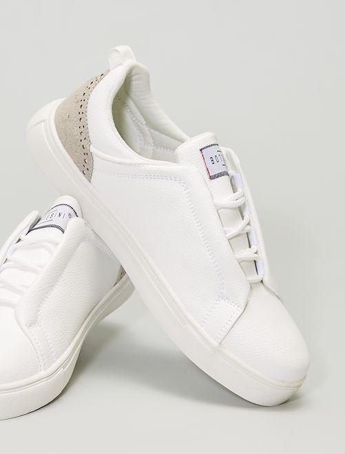 Zapatillas con cordones ocultos                             BLANCO