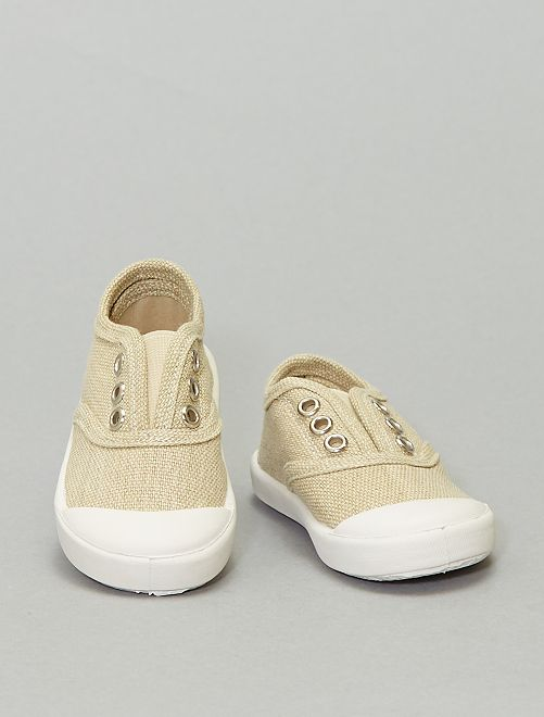 Zapatillas con efecto descolorido                                         AMARILLO