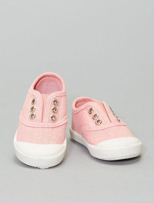 Zapatillas con efecto descolorido                                         ROSA