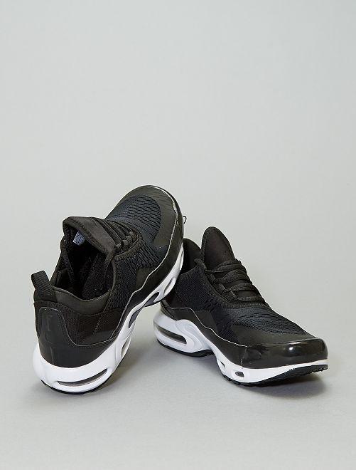 Zapatillas con suela con cámara de aire                             blanco/negro