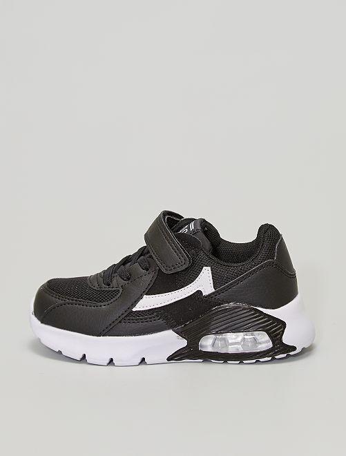 Zapatillas con suela con cámara de aire                             negro