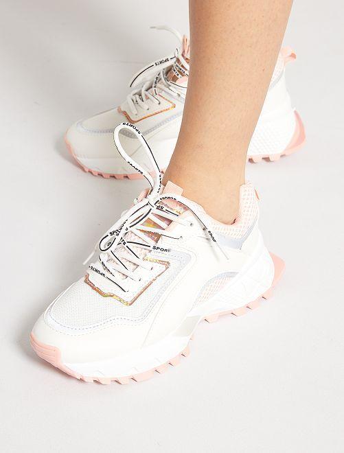 Zapatillas con suela gruesa                             ROSA