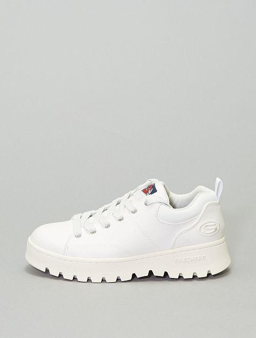 Zapatillas con suela gruesa 'Skechers'                             blanco